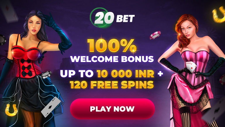 20 Bet - 100% Welcome Bonus - Up to 10000 INR + 120 Free Spins