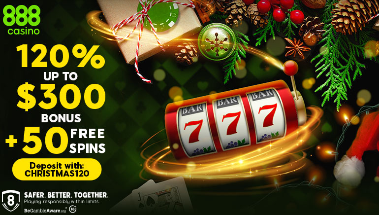 New Player Christmas Special from 888 Casino