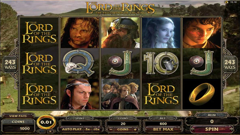 Lord of the Rings, Now at Jackpot City